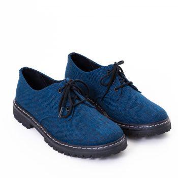 Sapato Tratorado Terra Azul Índigo (Amostra)
