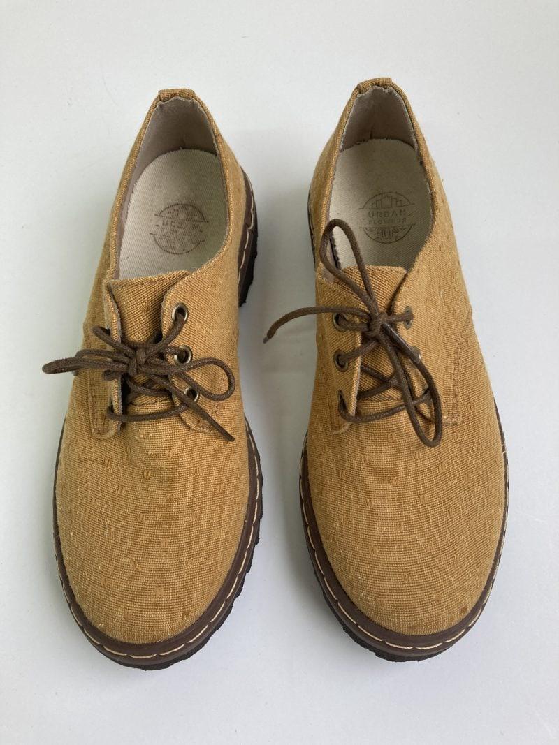 Sapato Tratorado Terra Poá Mostarda (Pequenos Defeitos) 3