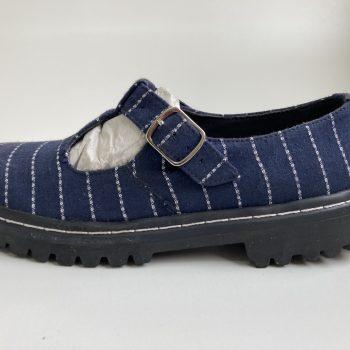 Sapato Tratorado Teodora Listrado (Amostra) (Pequenos Defeitos)