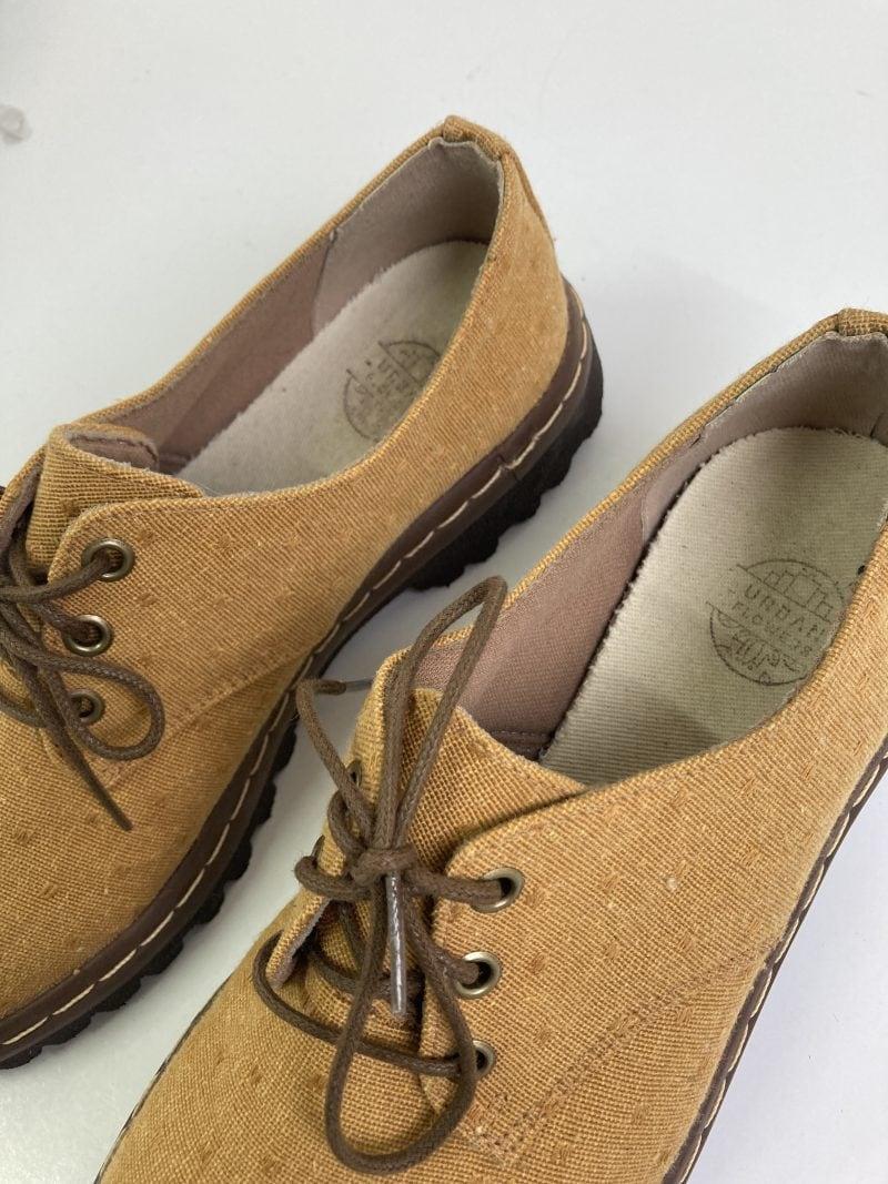 Sapato Tratorado Terra Poá Mostarda (Pequenos Defeitos) 2