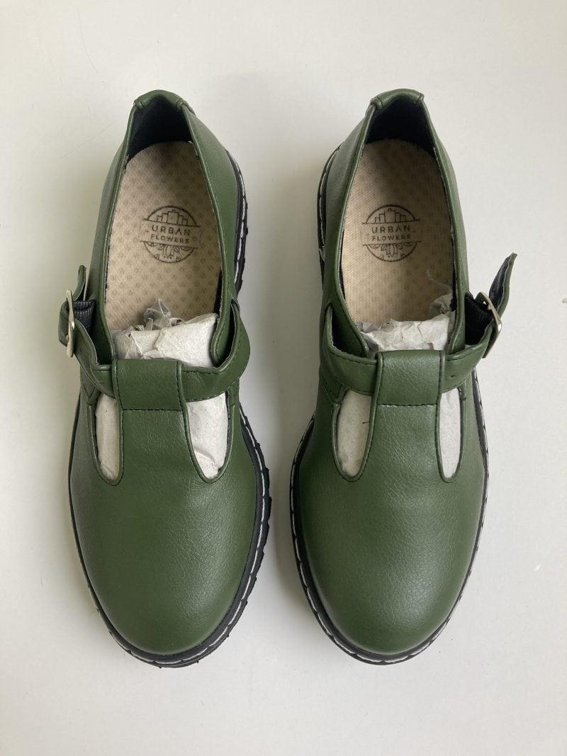 Sapato Tratorado Teodora Verde Musgo (Amostra) 2