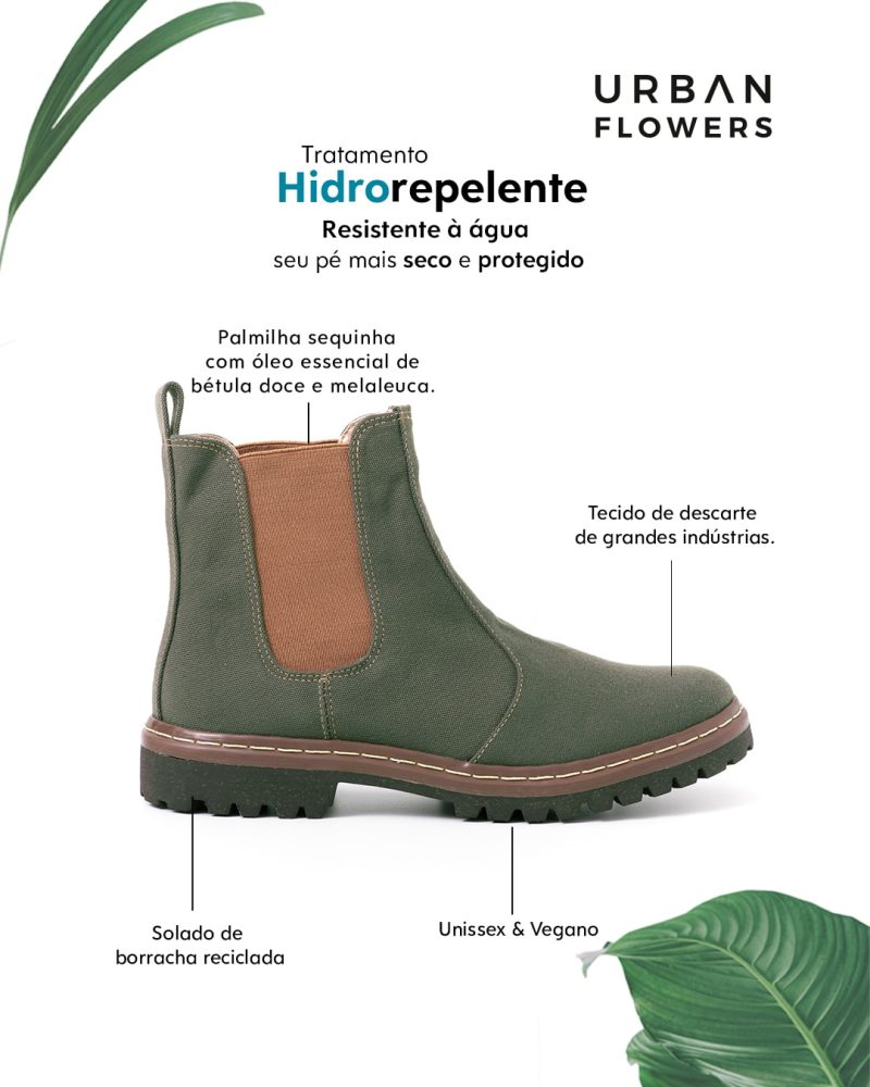 Tênis Botinha Nuvem Hidrorrepelente Verde Musgo 1