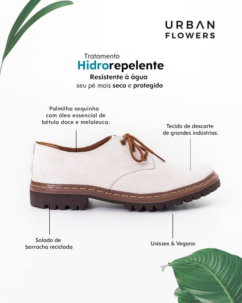 Sapato Tratorado Terra Hidrorrepelente Branco 2