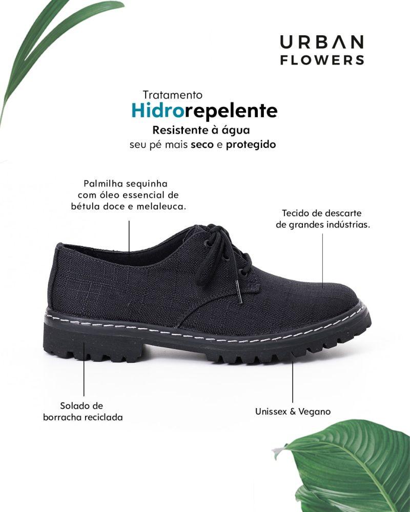 Sapato Tratorado Terra Hidrorrepelente Preto 1