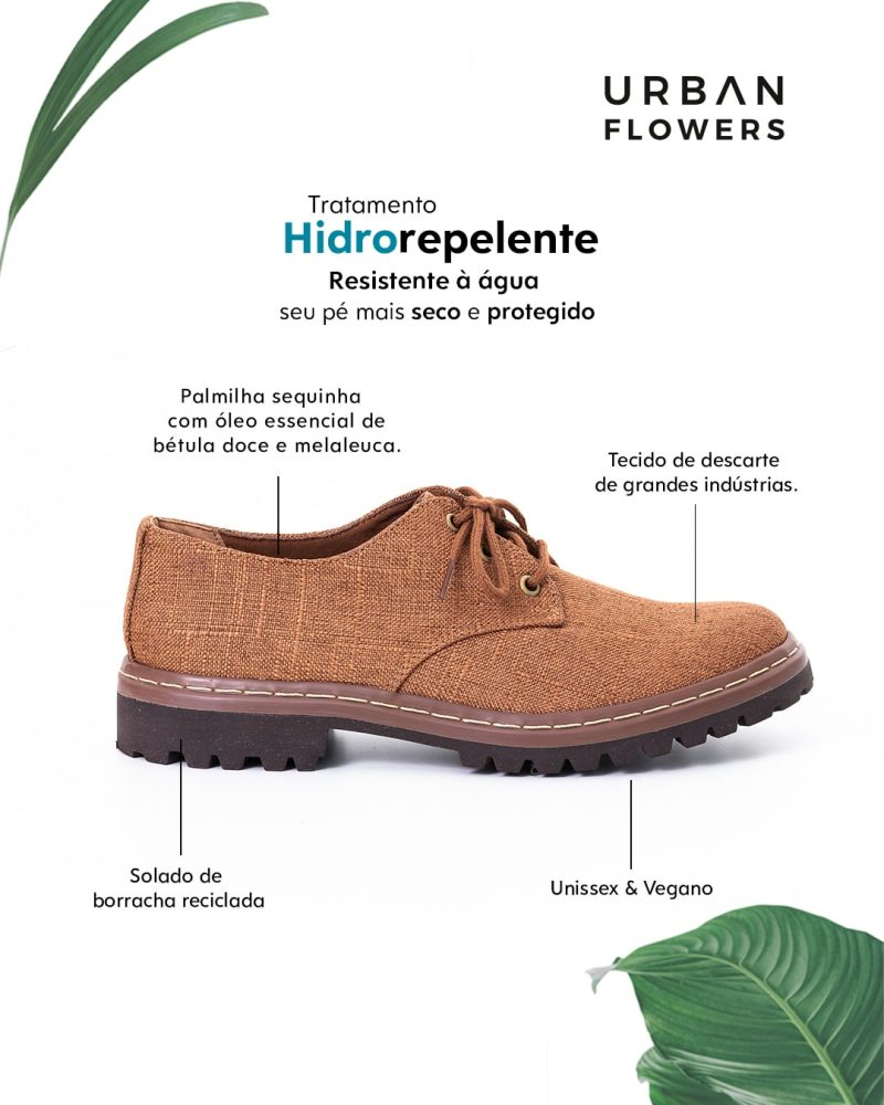 Sapato Tratorado Terra Hidrorrepelente Conhaque 1