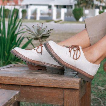 Sapato Tratorado Terra Hidrorrepelente Branco