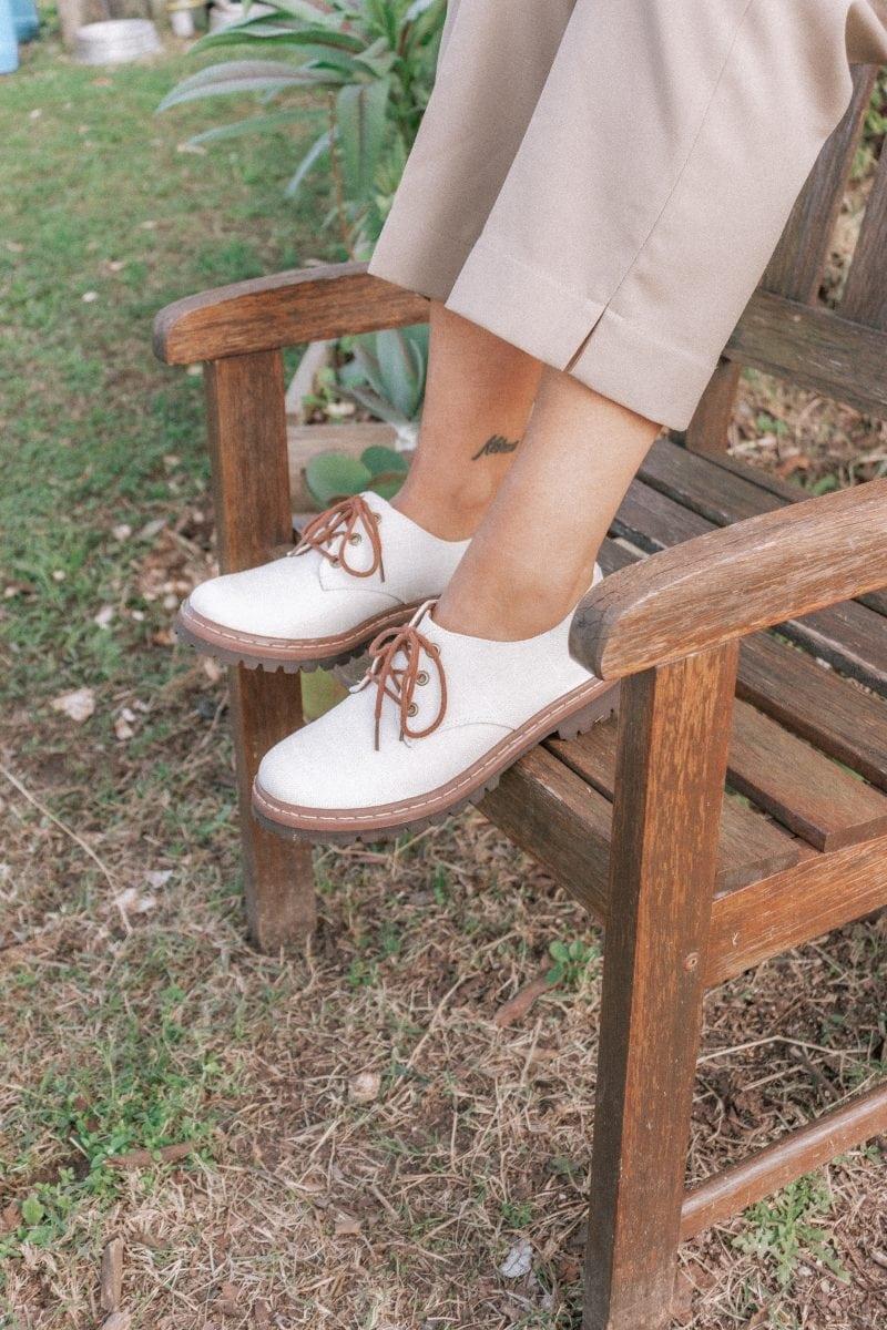 Sapato Tratorado Terra Hidrorrepelente Branco 1